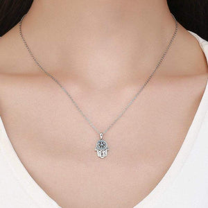 Hamsa Hand Pendant Necklace - The Silver Goose