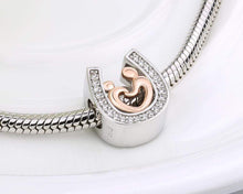 Load image into Gallery viewer, Horseshoe Hand in Hand Charm - The Silver Goose