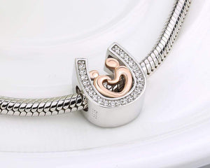 Horseshoe Hand in Hand Charm - The Silver Goose