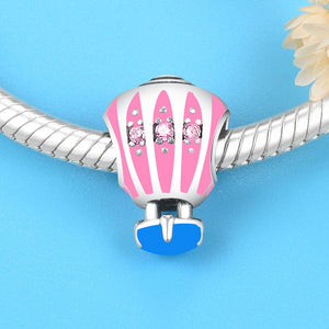 Hot Air Balloon Charm - The Silver Goose