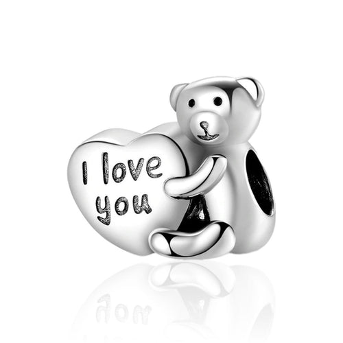 I Love You Bear Charm - The Silver Goose