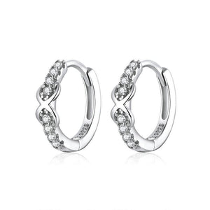 Infinity Hoop Earrings - The Silver Goose