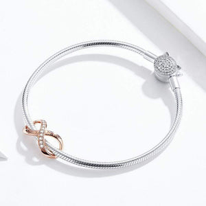 Infinity Rose Gold Charm - The Silver Goose