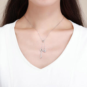 Key of Heart Pendant Necklace - The Silver Goose