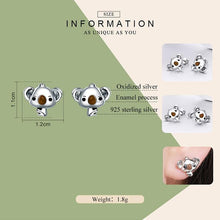 Load image into Gallery viewer, Koala Bear Earrings - The Silver Goose