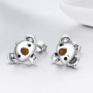 Koala Bear Earrings - The Silver Goose