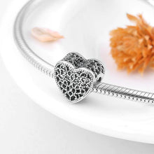 Load image into Gallery viewer, Lace Heart Charm - The Silver Goose