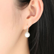 Load image into Gallery viewer, Long Pearl Drop Earrings - The Silver Goose