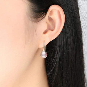 Long Pink Pearl Drop Earrings - The Silver Goose