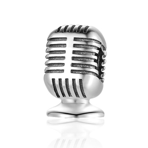 Microphone Charm - The Silver Goose