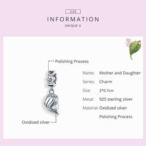 Mother & Daughter Charm - The Silver Goose