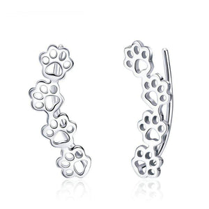 Paw Print Earrings - The Silver Goose