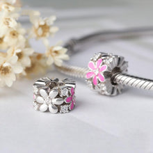 Load image into Gallery viewer, Pink Flower Charm - The Silver Goose