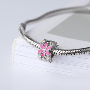 Pink Flower Charm - The Silver Goose