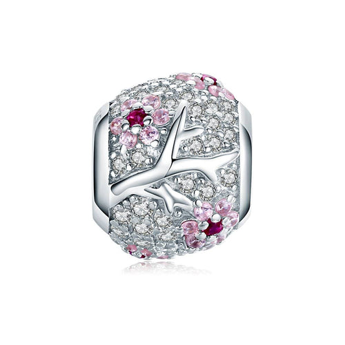 Plum Blossom Bead Charm - The Silver Goose