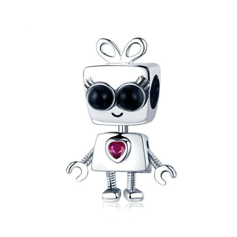 Robot Girl Charm - The Silver Goose