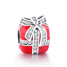 Load image into Gallery viewer, Red Gift Box Charm - The Silver Goose