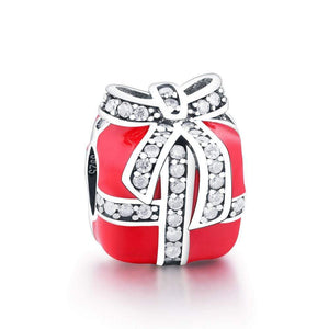 Red Gift Box Charm - The Silver Goose