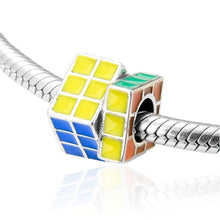 Load image into Gallery viewer, Rubik's Cube Charm - The Silver Goose