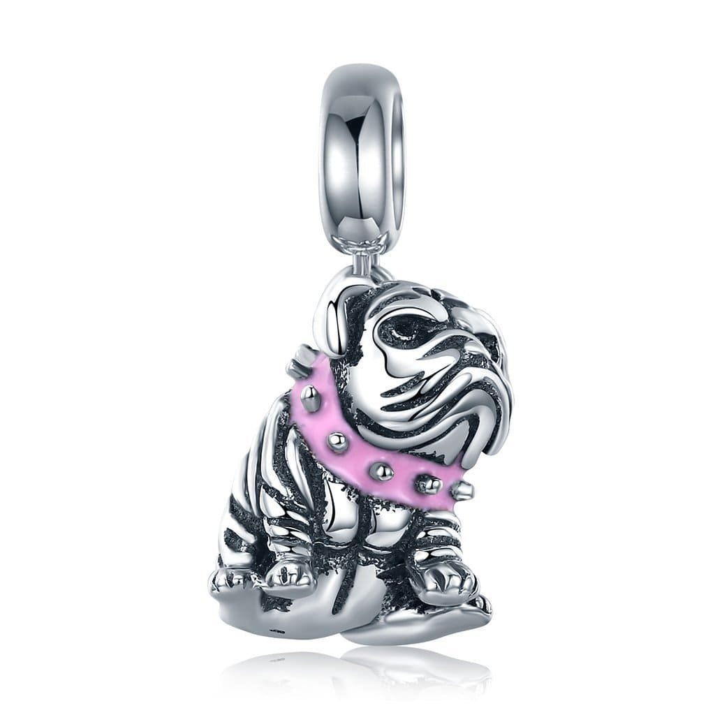English Bulldog Charm - The Silver Goose