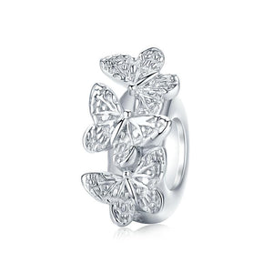Silver Butterflies Stopper - The Silver Goose