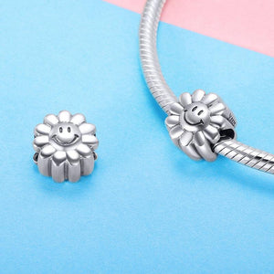 Smiling Sunflower Charm - The Silver Goose