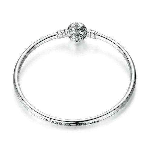 Snowflake Bangle Bracelet - The Silver Goose