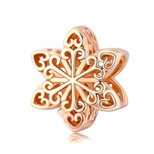 Load image into Gallery viewer, Snowflake Rose Gold Charm - The Silver Goose