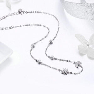 Sparkling Moon & Star Necklace - The Silver Goose