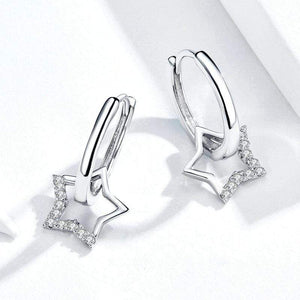 Star Dangle Earrings - The Silver Goose
