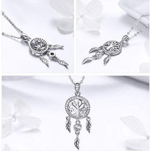 Load image into Gallery viewer, Tree of Life Dream Catcher Pendant Necklace - The Silver Goose