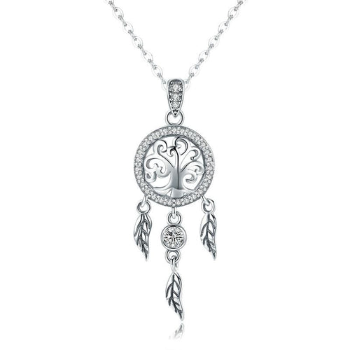 Tree of Life Dream Catcher Pendant Necklace - The Silver Goose