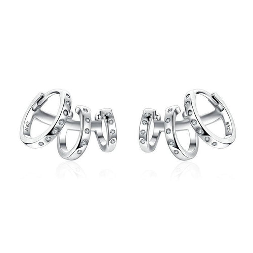 Triple Circle Earrings - The Silver Goose