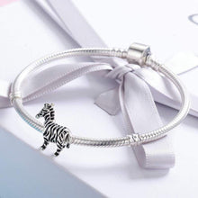 Load image into Gallery viewer, Zebra Charm - The Silver Goose