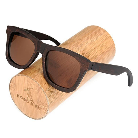 Retro Men's Designer Bamboo Sunglasses