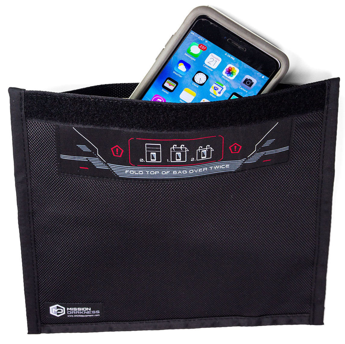 MISSION DARKNESS™ NON-WINDOW FARADAY BAG FOR PHONES