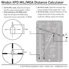Load image into Gallery viewer, WNDSN Mil/Moa Range Calculator (MMC)