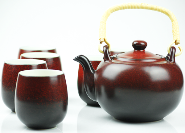 Two Tone Porcelain Tea Set