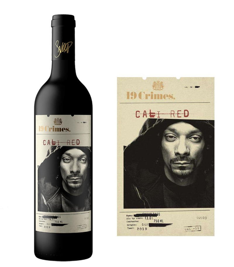 DAMAGED LABEL: 19 Crimes Cali Red Snoop Dogg Wine 2019 (750 ml)
