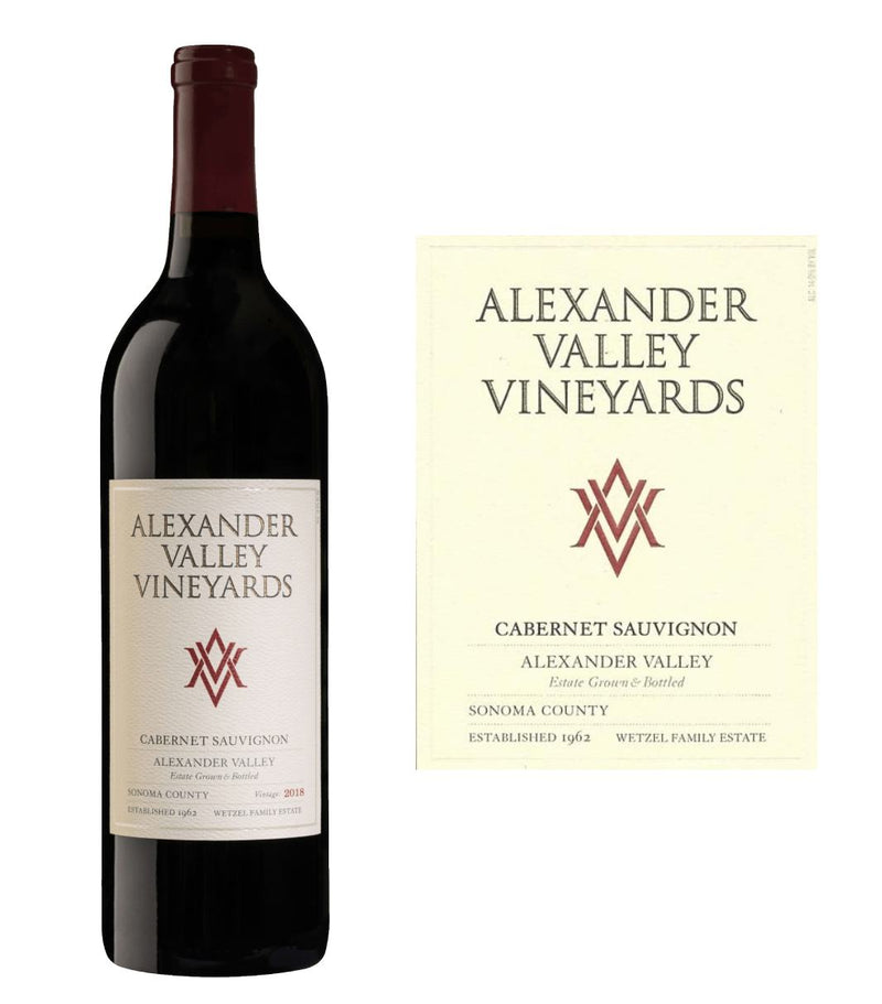 Alexander Valley Vineyards Cabernet Sauvignon 2018 (750 ml)