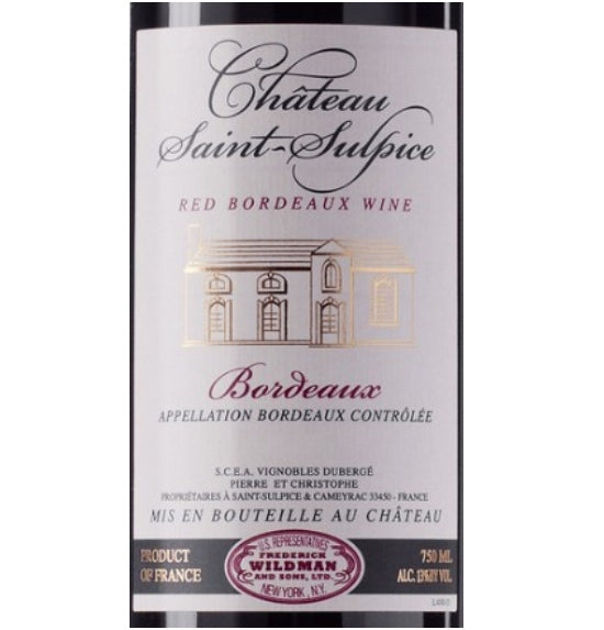Chateau Saint Sulpice Bordeaux 2015 (750 ml)
