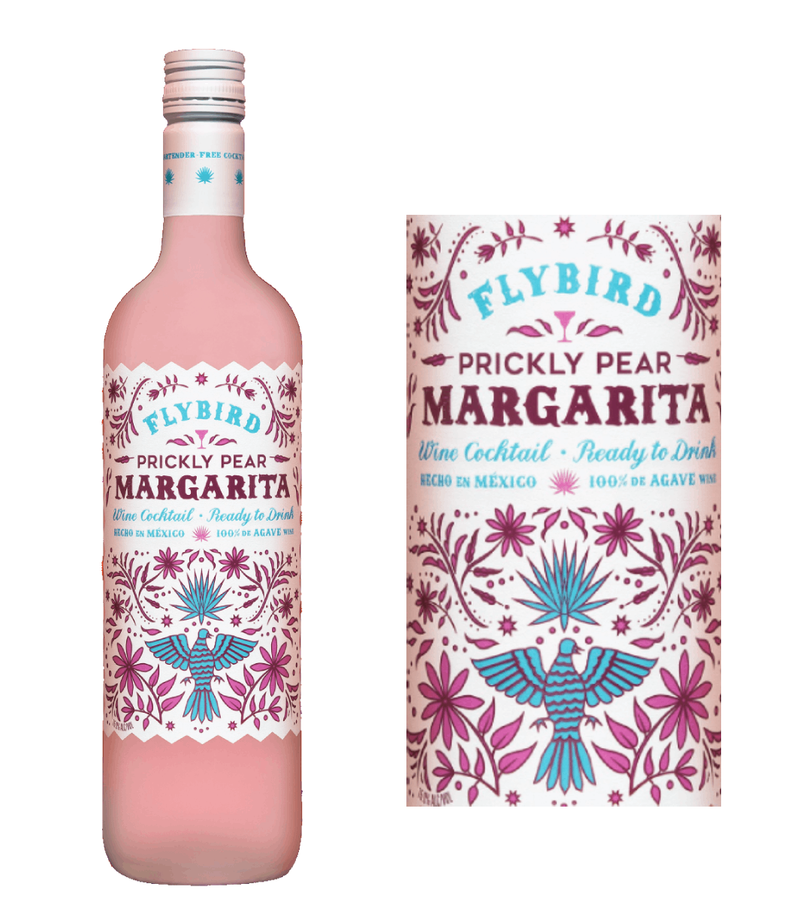 Flybird Prickly Pear Margarita Agave Wine Cocktail (750 ml)