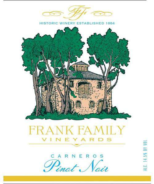 Frank Family Vineyards Pinot Noir 2018 (750 ml) - BuyWinesOnline.com