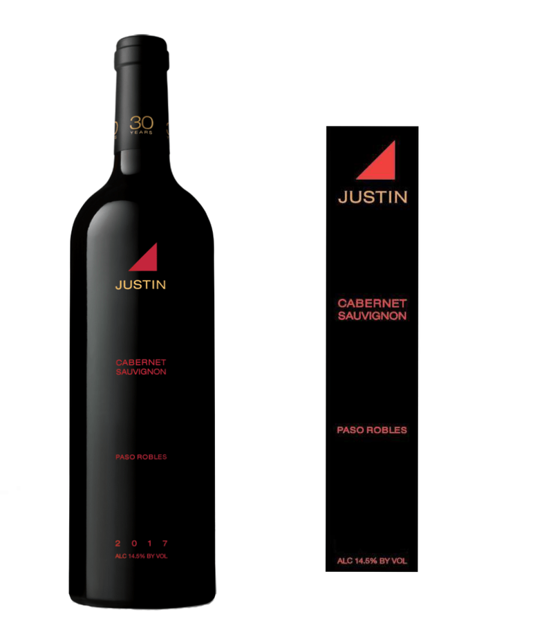 DAMAGED LABEL: Justin Cabernet Sauvignon 2017 (750 ml)