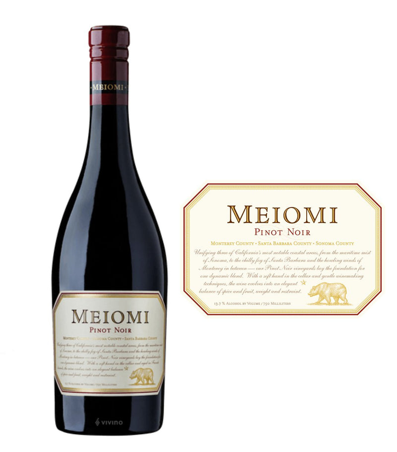 DAMAGED LABEL: Meiomi Pinot Noir 2019 (750 ml)