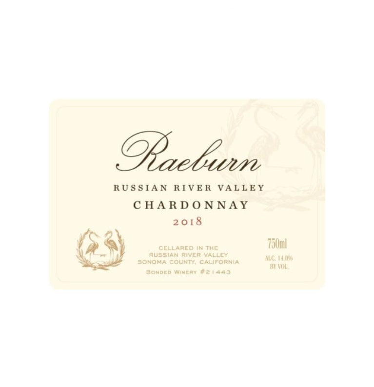 Raeburn Chardonnay Russian River Valley 2018 (750 ml) - BuyWinesOnline.com