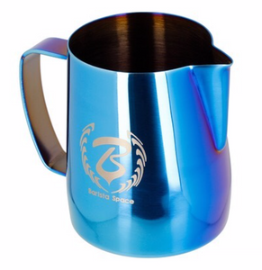 BaristaSpace milk pitcher blue