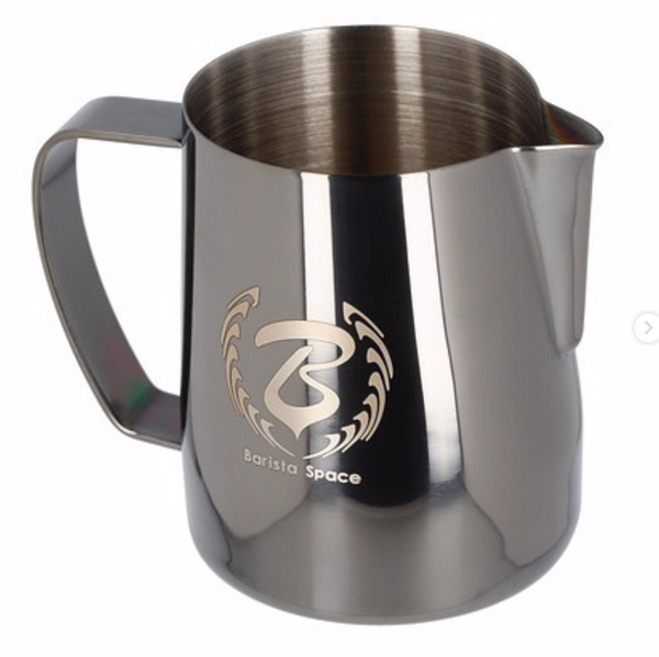 Barista space milk pitcher black sandy 350 ml