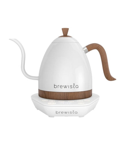New Brewista Artisan Gooseneck Kettle - Pearl White with White Base, 600ml