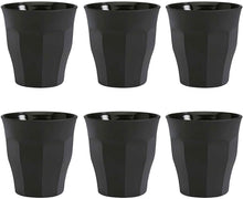 Load image into Gallery viewer, Duralex black matte 90ml set of 6 cups
